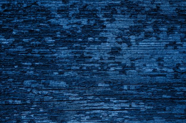 Couleur de l'année 2020 - bleu classique. texture du bois