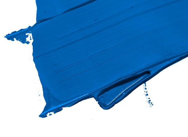 Couleur de l'année 2020 fond de coup de pinceau bleu classique