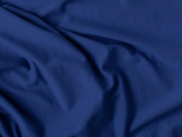 Couleur bleu classique. texture de tissu plissé. concept de design d'intérieur, intérieur