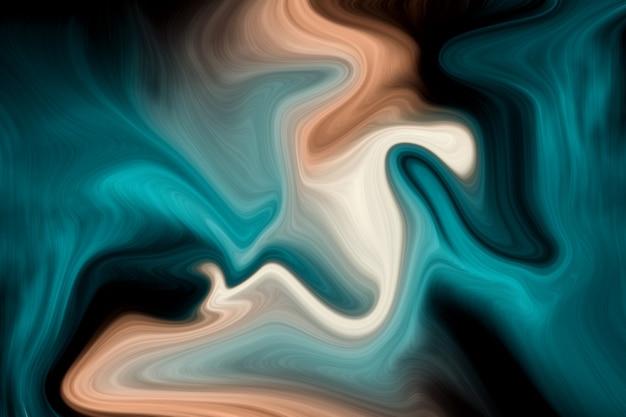 Couleur de corail vivant de luxe et fond de couleurs liquides de l'océan profond