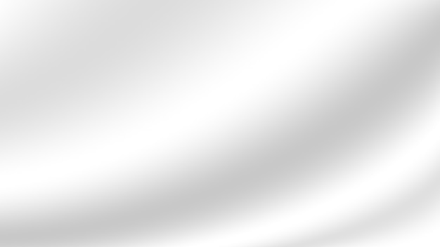Couleur dégradé blanc abstrait comme fond de tissu doux et lisse pour la conception décorative de bannière de site web et de carte en papier