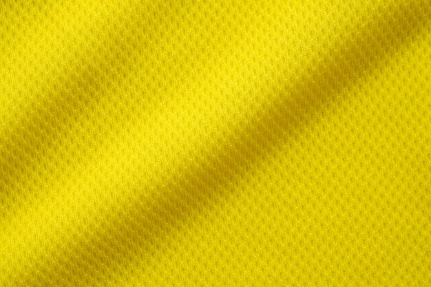 Couleur jaune football jersey vêtements tissu texture sports porter fond