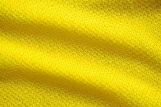 Couleur jaune football jersey vêtements tissu texture vêtements de sport
