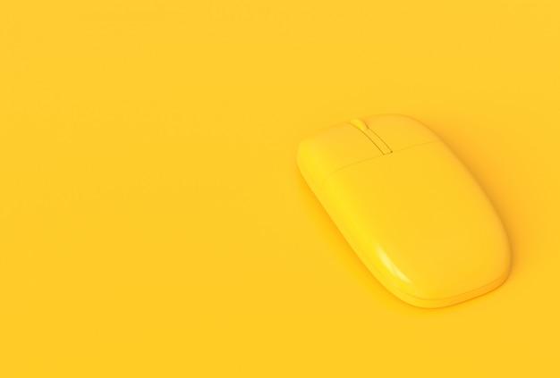 Couleur jaune souris concept minimal.