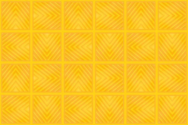 Couleur jaune transparente moderne ton grille carrée carrelage mur de fond.