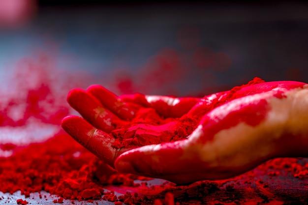 Couleur à la main, festival indien holi