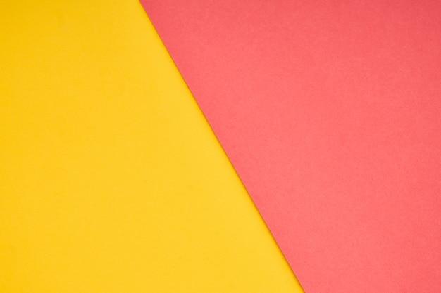 Couleur de papier pastel rose et jaune pour le fond