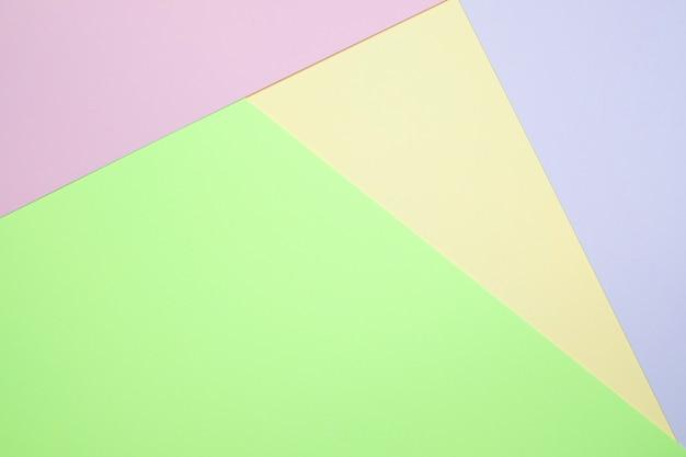 Couleur pastel papier plat poser dessus vue arrière plan