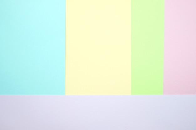 Couleur pastel papier plat poser fond