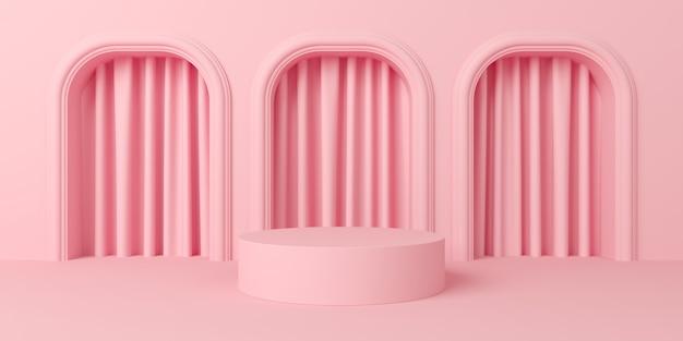 Couleur pastel de scène abstraite avec fond de podium de forme géométrique