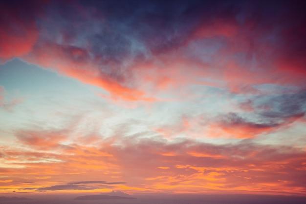 Couleur rose coucher de soleil