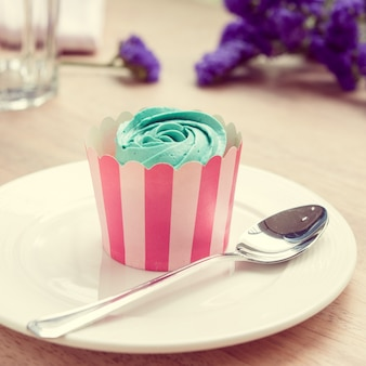 Couleur vintage cupcake et lavande