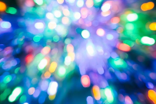 Couleurs abstraites avec bokeh flou lumière noël nouvel an