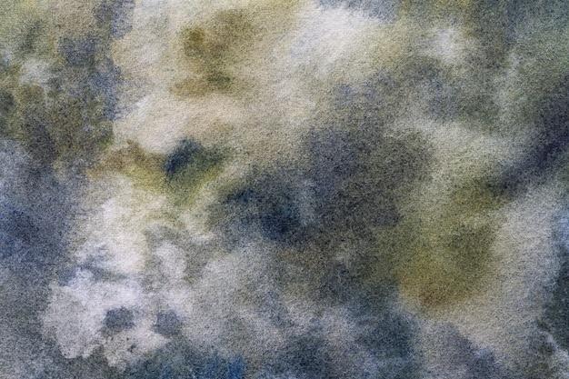 Couleurs bleu marine et vert olive de fond d'art abstrait.