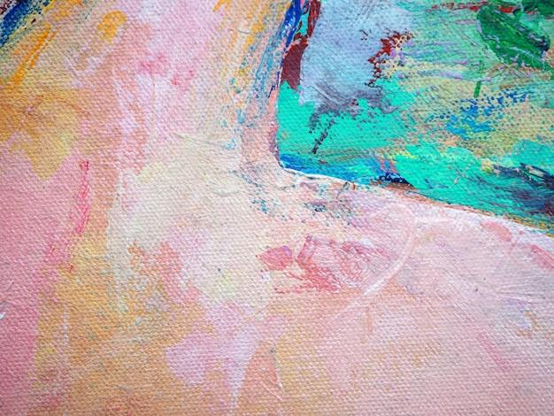 Couleurs colorées peinture brosse abstrait peinture à l'huile douce.