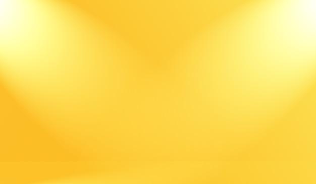 Couleurs douces abstraites magiques de fond de studio dégradé jaune brillant.