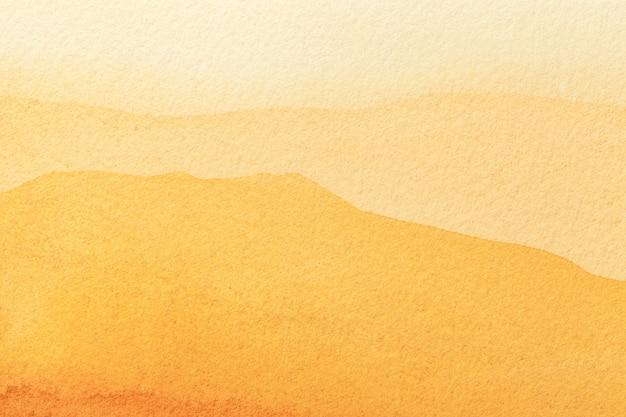 Couleurs jaunes et dorées claires d'art abstrait de fond aquarelle sur toile