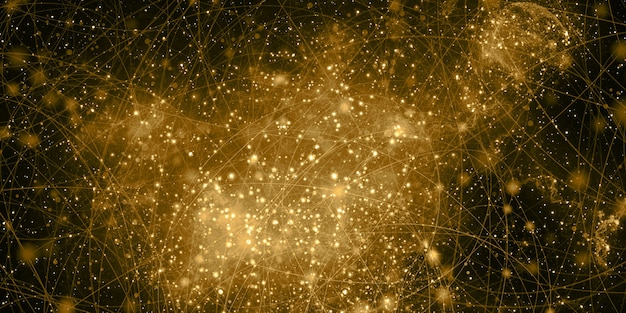 Les couleurs des nébuleuses d'innombrables étoiles fantaisie univers abstrait illustration 3d
