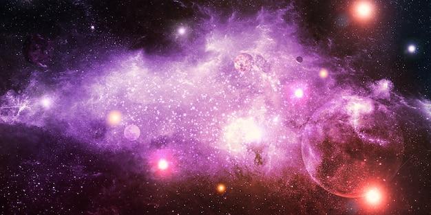 Les couleurs des nébuleuses d'innombrables étoiles univers abstrait fantastique