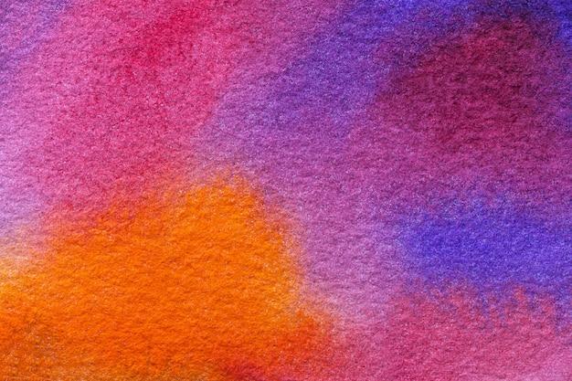 Couleurs pourpres et bleu clair d'art abstrait, aquarelle sur toile,