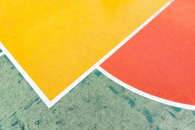 Couleurs, rouge, jaune, peinture, blanc, bleu, écoles, terrains de jeux.