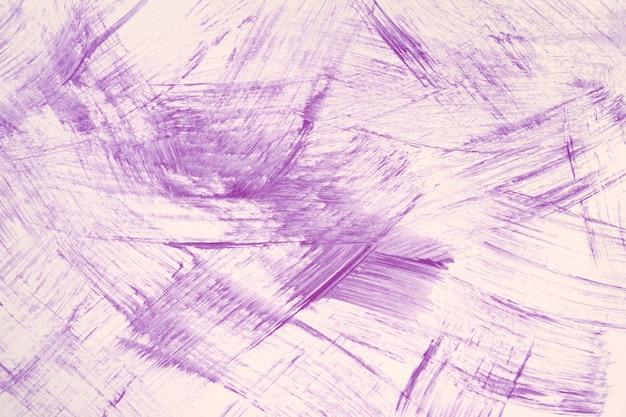 Couleurs violettes et blanches de fond d'art abstrait. peinture à l'aquarelle avec des traits violets et des éclaboussures.