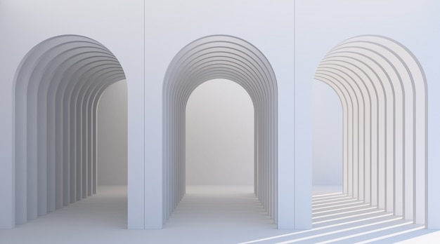 Couloir en arc minimaliste