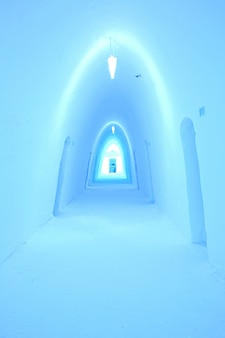 Couloir de l'hôtel de glace