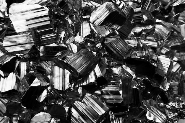 Coup de macro de ferraille de métal noir