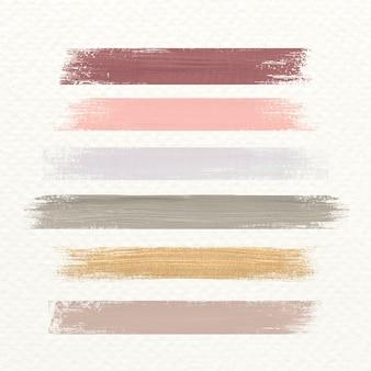 Coup de pinceau acrylique pastel
