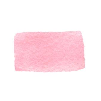 Coup de pinceau aquarelle rose illustration aquarelle dessinée à la main. conception pour l'impression, les cartes de voeux, l'emballage, les invitations