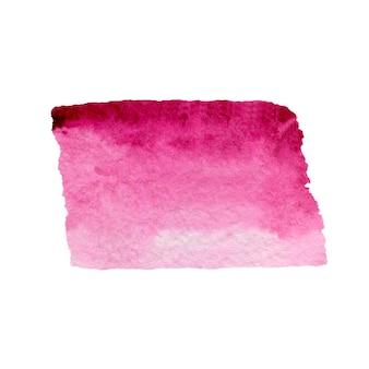 Coup de pinceau aquarelle rose illustration aquarelle dessinée à la main
