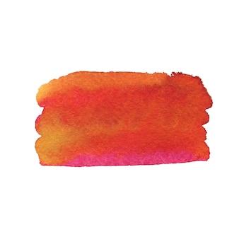 Coup de pinceau d'été peint. texture de peinture aquarelle.
