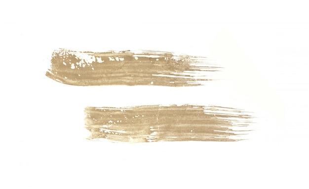Coup de pinceau isolé sur fond blanc