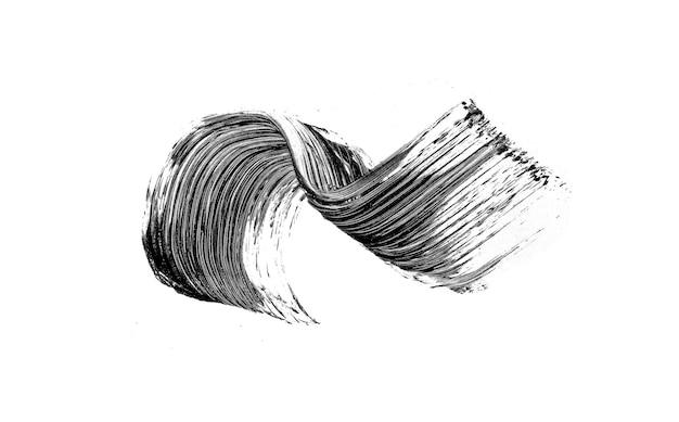 Coup de pinceau mascara noir isolé