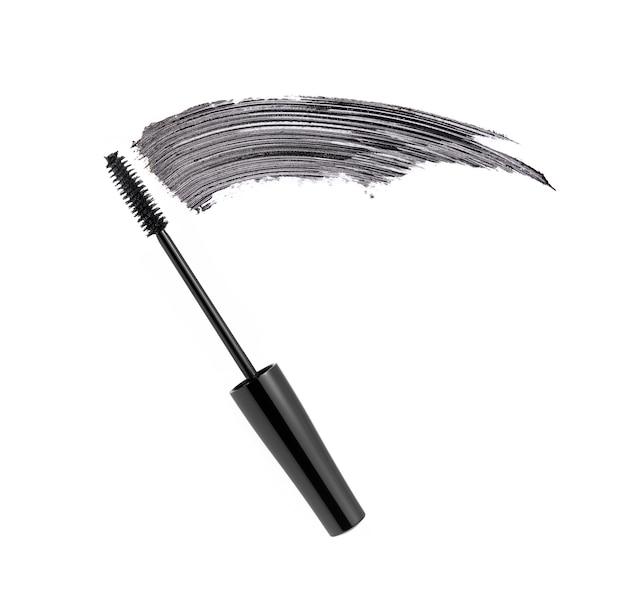 Coup de pinceau mascara noir avec pinceau applicateur