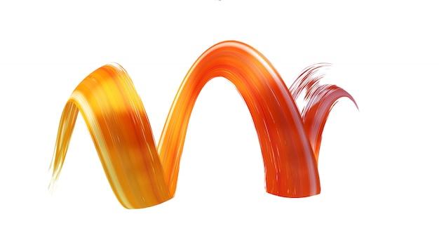 Coup de pinceau orange torsadé abstrait