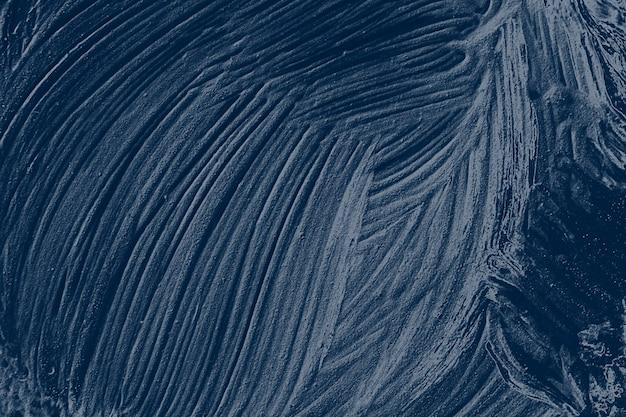Coup de pinceau de peinture à l'huile bleu texturé