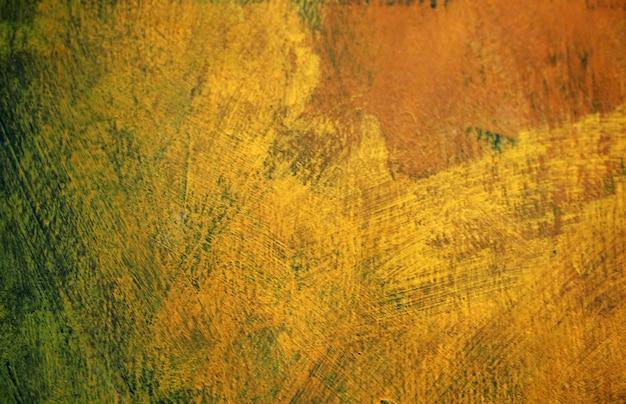 Coup de pinceau peinture à l'huile doré coloré