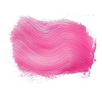 Coup de pinceau de peinture rose texturé