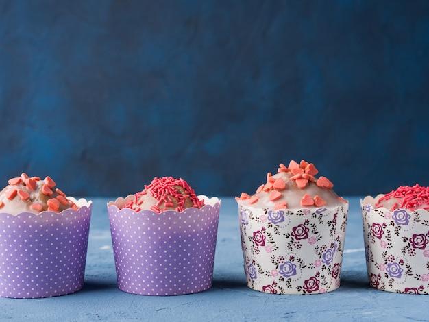 Coupe des gâteaux pour la saint valentin