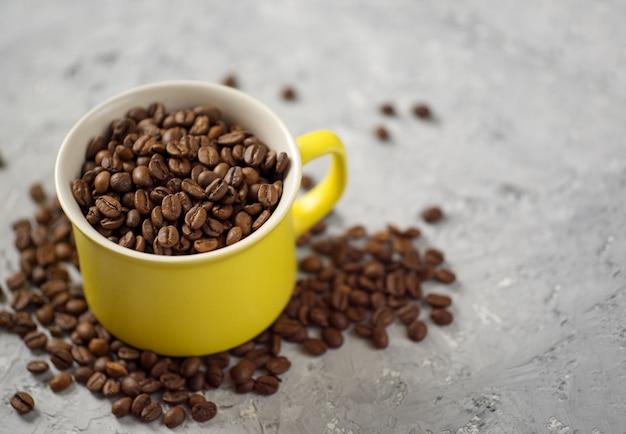 Coupe de grain de café avec fond