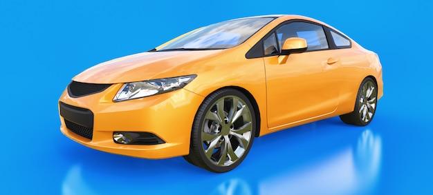 Coupé orange petite voiture de sport