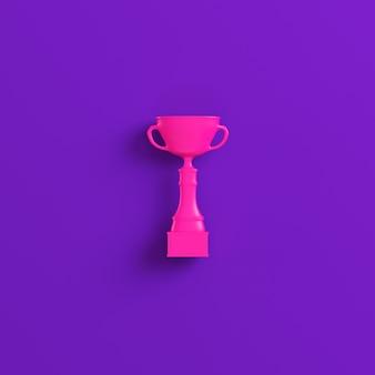 Coupe trophée rose sur violet