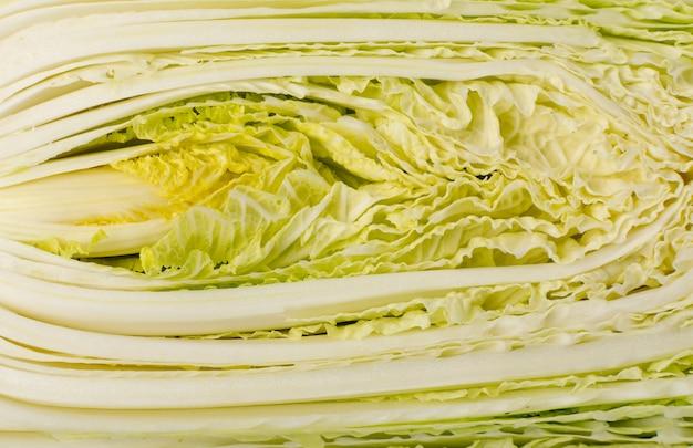 Couper le fond de texture de chou chinois