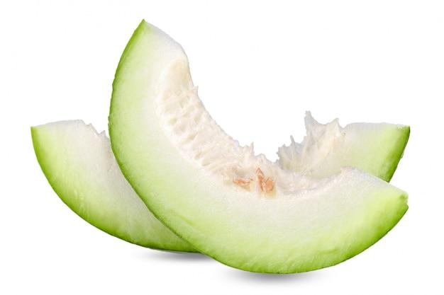 Couper un tracé de détourage isolé melon d'hiver