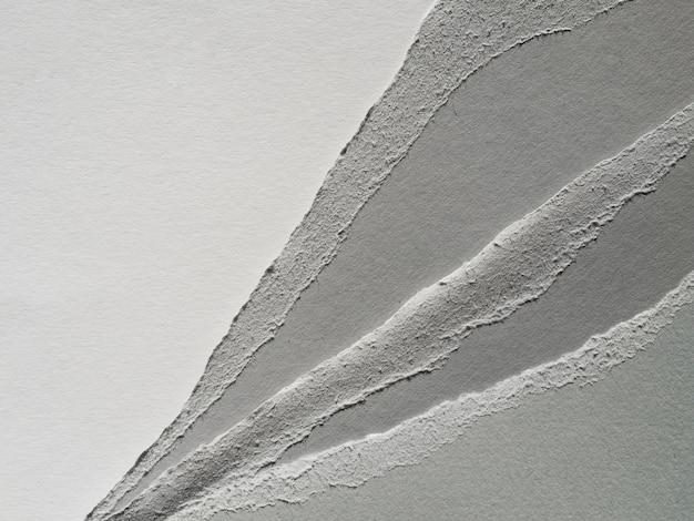 Coupes de papier en niveaux de gris