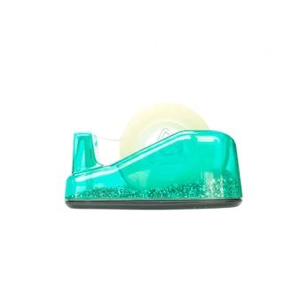 Coupeur de ruban adhésif vert closeup