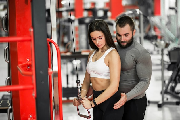 Couple au gymnase