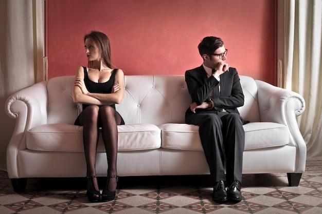 Couple ayant des problèmes